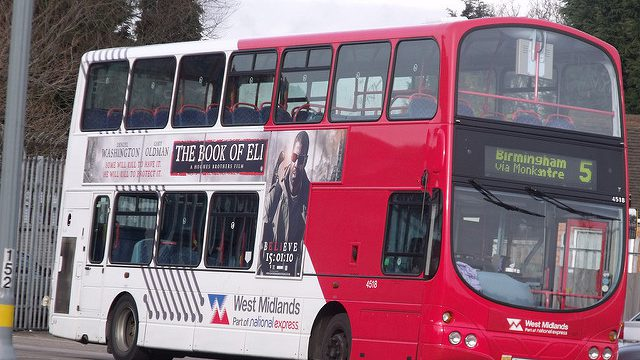 Image illustrating bus in Birmingham employment law case